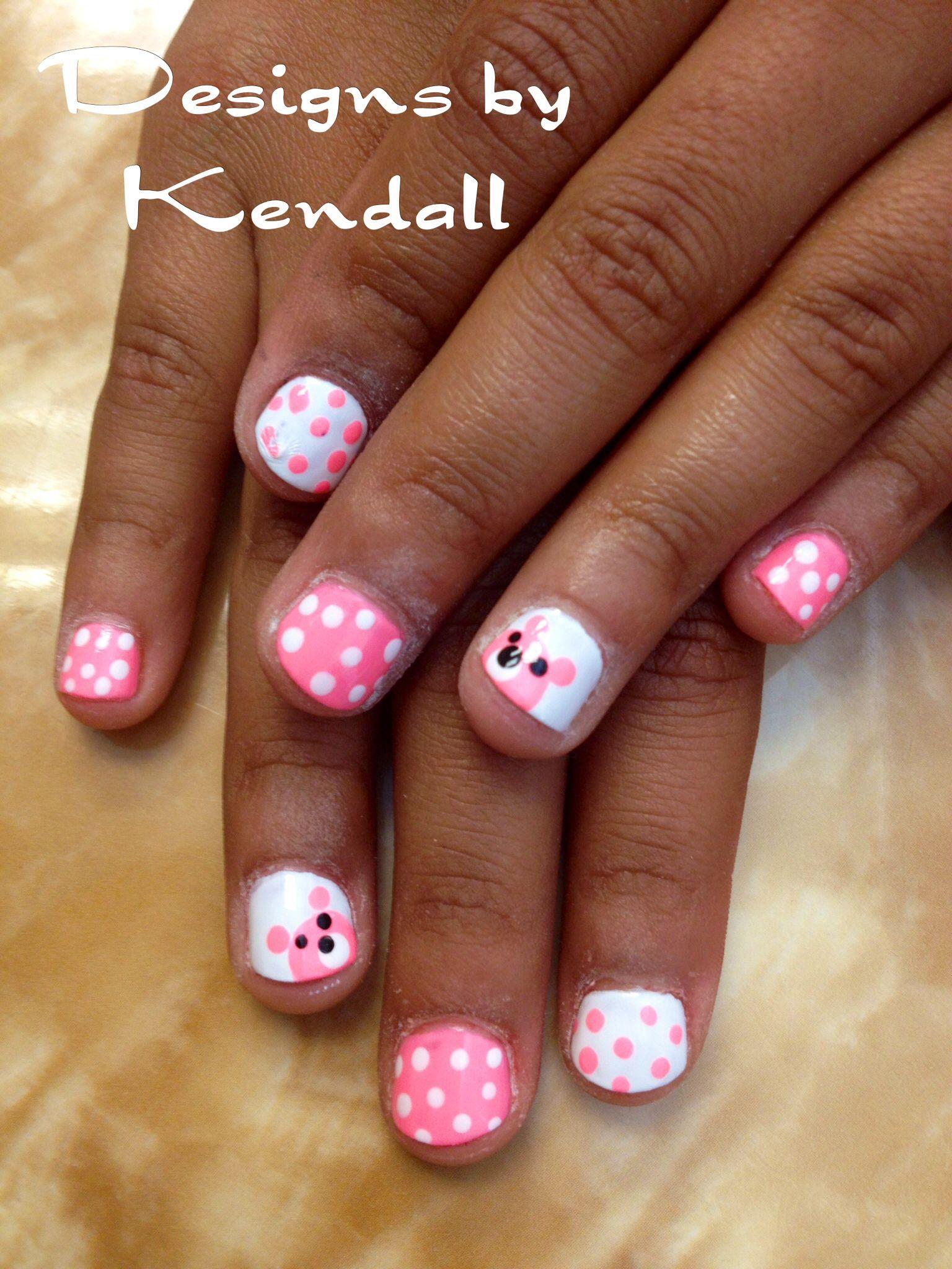 Kid nail designs. Baby bears nail art. - Kid Nail Designs. Baby Bears Nail Art. Nails By Kendall