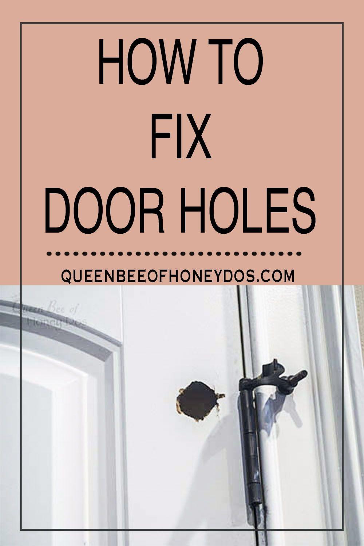 How To Repair Hollow Core Door Holes Diy Interior Doors Mobile