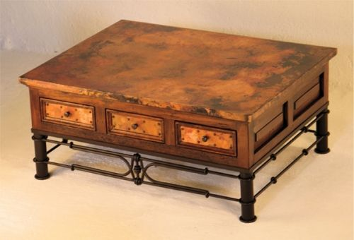 Coppper Coffee Table 5 Rustic Cabin Lodge Western Southwest Furniture The Refuge Lifestyle