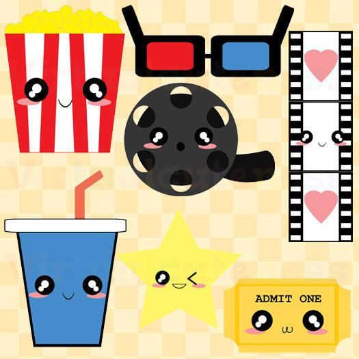 Cute Movie Theater Clipart - Movie Night Clip Art, Popcorn Clipart ...