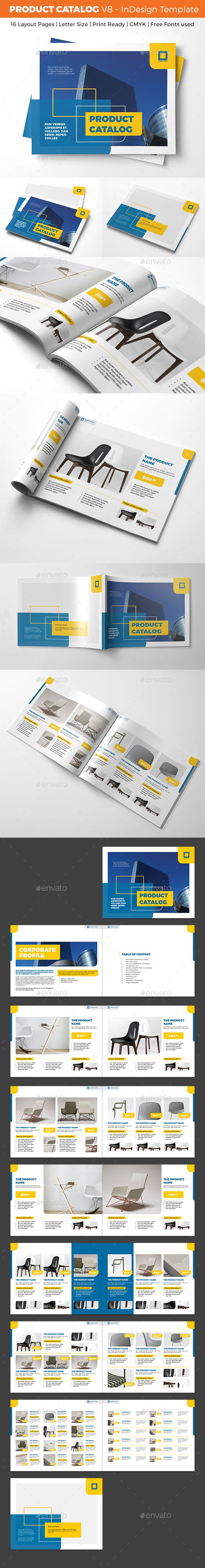 Product Catalog Template - V8 | Catálogo, Diseño editorial y Diseño ...