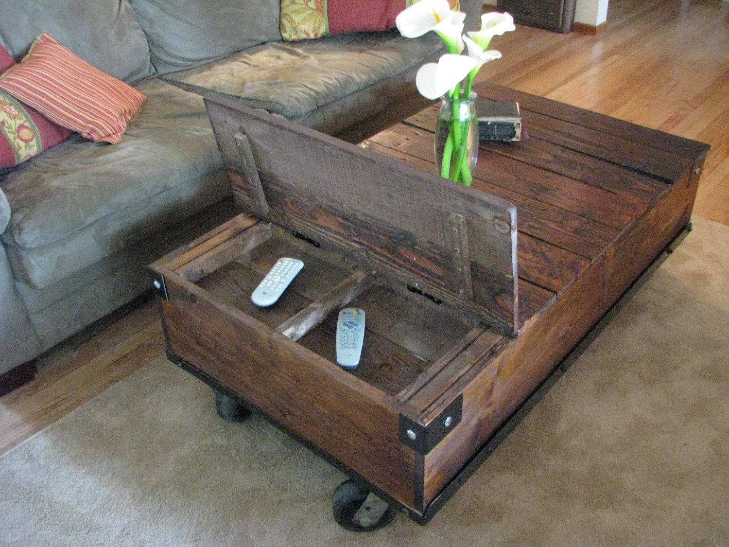 Industrial Factory Cart Coffee Table The 35 Best Images About Railroad Cart Coffee Table On Pinterest
