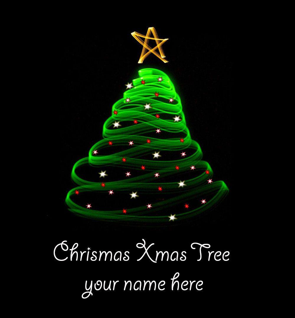 Write Name On Christmas Tree 3 Greeting Card With Name Edit