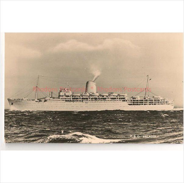 P&O Shipping Line - SS Arcadia - Circa 1950's Real Photo