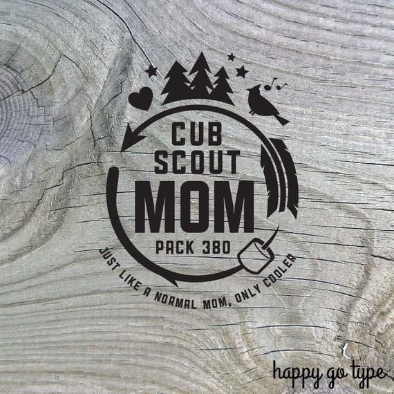 Cub Scout Mom Shirt Design #15 - Custom Pack Number - Digital file, svg #cubscouts