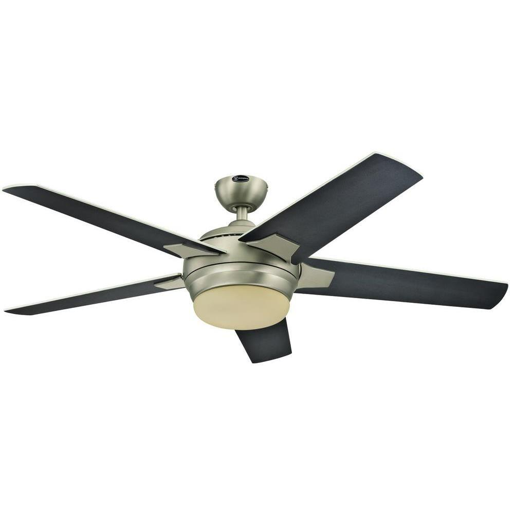 Westinghouse Bolton 52 In Indoor Brushed Aluminum Finish Ceiling