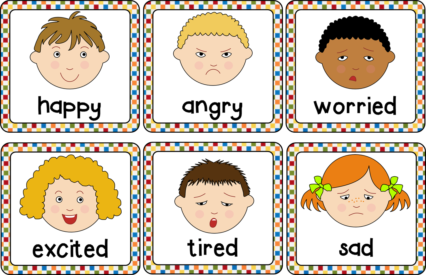 Emotions Cards Helps To Understand And Describe Different