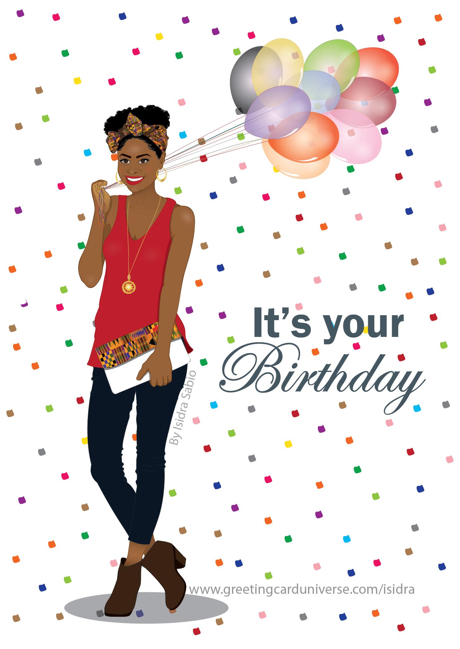 Happy Birthday Images Black Woman : happy, birthday, images, black, woman, Birthday, Cards, Created, Afro-Latin, Publishing