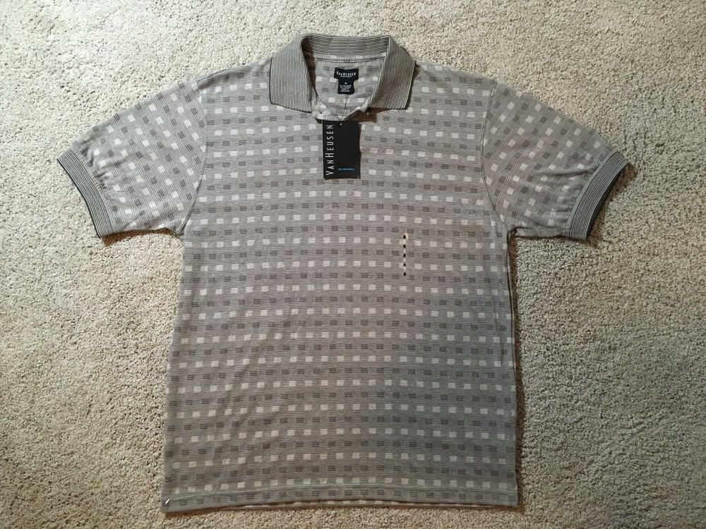 4ddfb921b NWT Van Heusen Mens Short Sleeve Size Medium Polo Shirt #fashion #clothing  #shoes