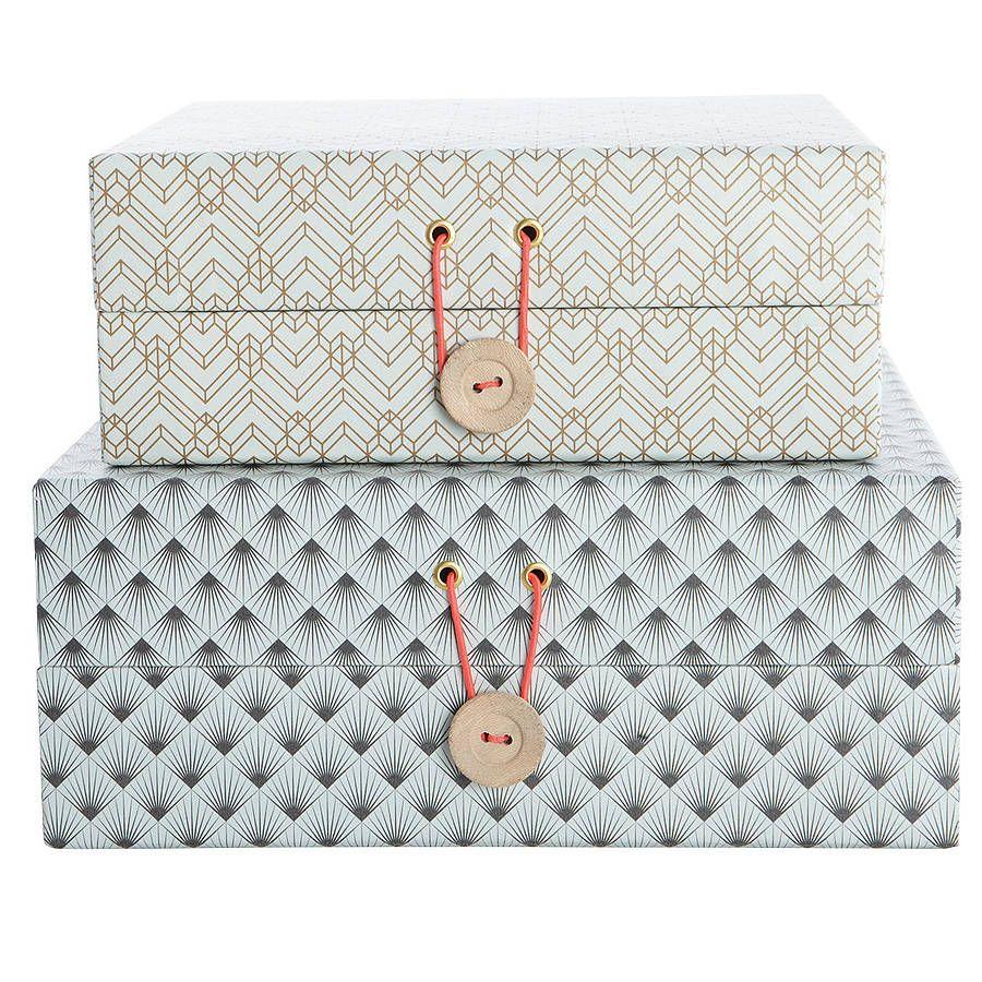 Elegant White Cardboard Decorative Storage Bo With Yellow Line Decoration Also Blue Black Ornament Screen