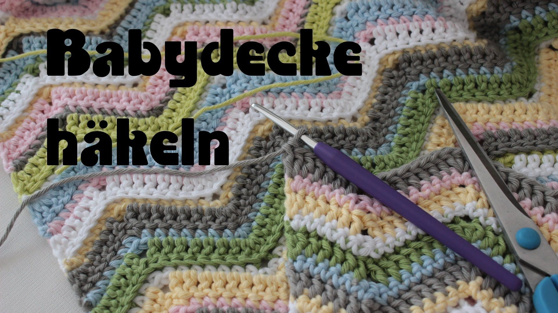Babydecke häkeln - Zick Zack - zig zag crochet - baby blanket ...