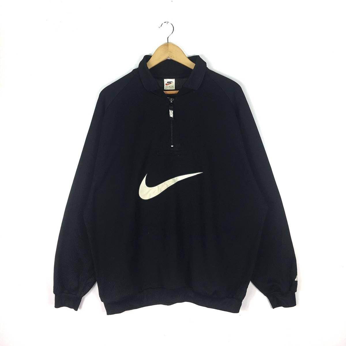 Nike Vintage Nike Big Logo Swoosh Sweatshirt Half Zip Embroidery Size Xl Sweatshirts Hoodies For Sale Grailed Vintage Nike Sweatshirts Nike Outfits