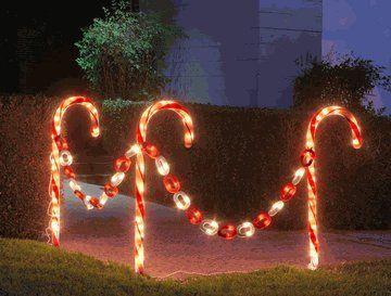 Candy Cane Light Set Outdoor Christmas Lights Candy Cane Decorations Outdoor Christmas Decorations