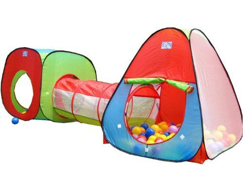 Childrens Kids Pop Up Play Tent and Tunnel Set - In Red/Blue/  sc 1 st  Pinterest & Childrens Kids Pop Up Play Tent and Tunnel Set - In Red/Blue ...