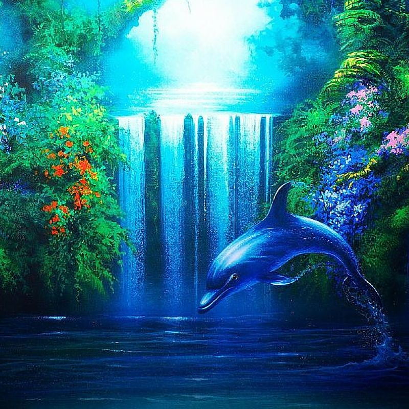 Днем, картинки анимация дельфин