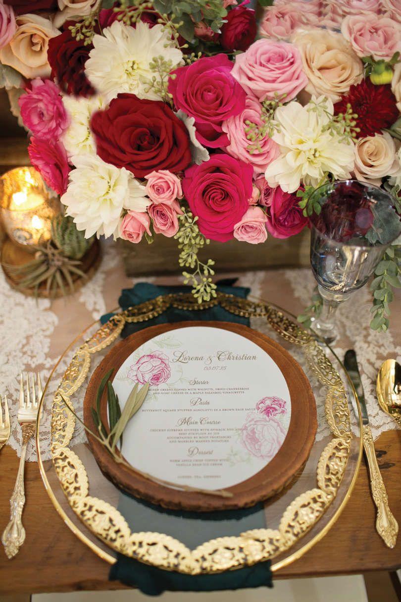 Wedding decorations gold and pink  SPANISH ROSE WEDDING THEME  Elegant Wedding  matrimonio rose