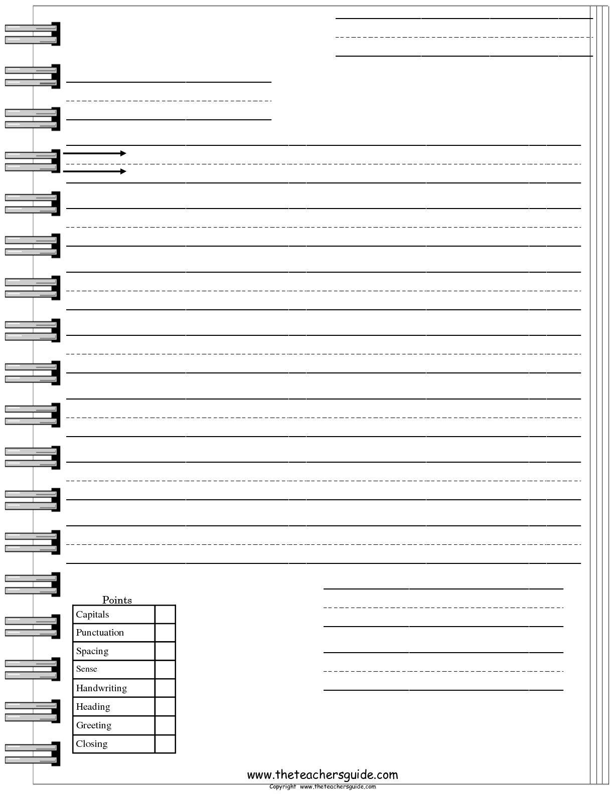 Friendly Letter Worksheets From The Teacher S Guide Letter Writing Template Friendly Letter Writing Letter Worksheets