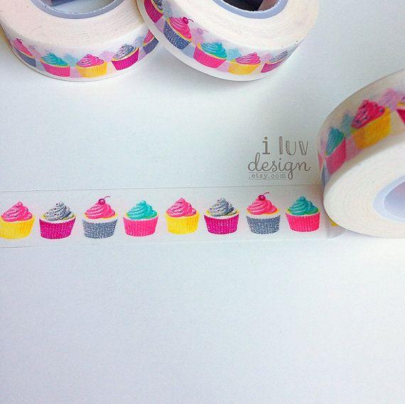 Cupcakes Washi Tape Decorative Tape Baby Shower  di iluvdesign