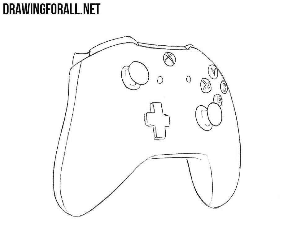 How To Draw An Xbox Controller Drawingforall Net Xbox Controller Drawings Draw