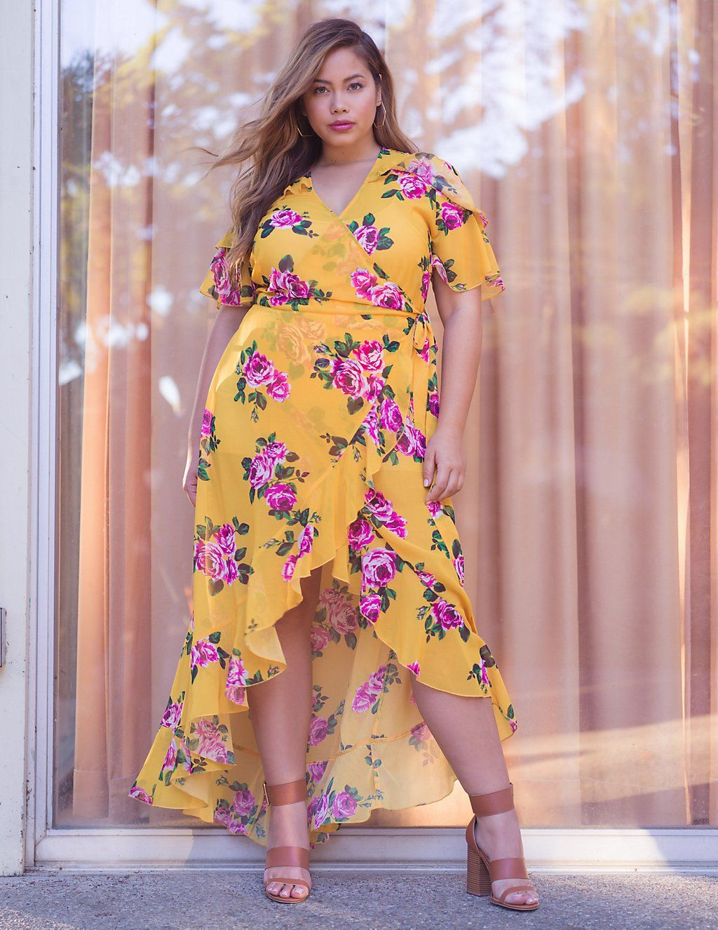 Plus Size Floral Wrap Maxi Dress | Charlotte Russe | summer 18 in ...
