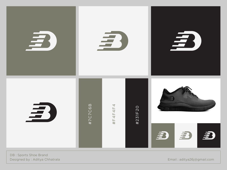 DB Logo for a sports shoe brand Logos design, Db logo