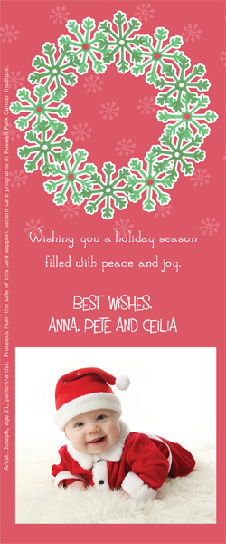 x add a photo and personalized message a portion of the proceeds from the sale of this personalized holiday card is donated to help support cancer patient - Personalized Holiday Cards