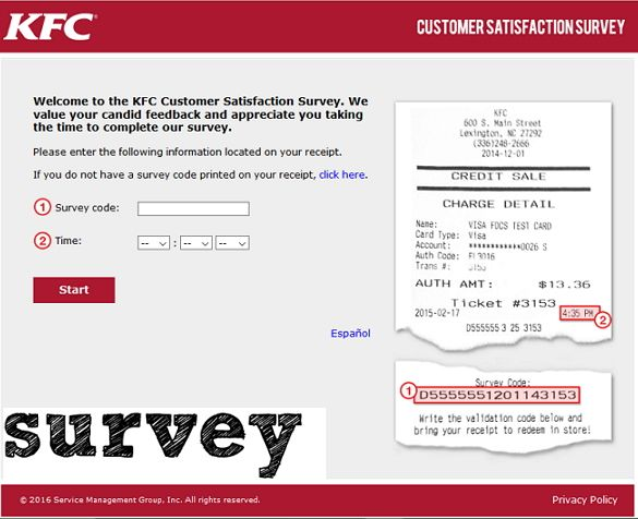 wwwMyKFCExperience - KFC Customer Satisfaction Survey KFC - site survey template