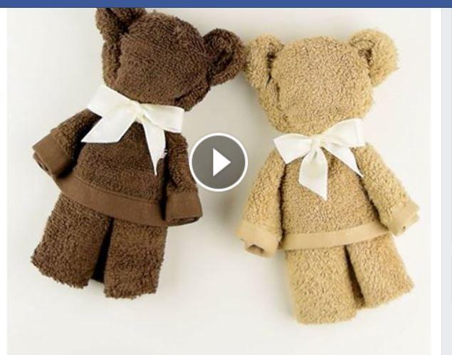 Baby ideas pinterest pliage - Pliage serviette ourson ...