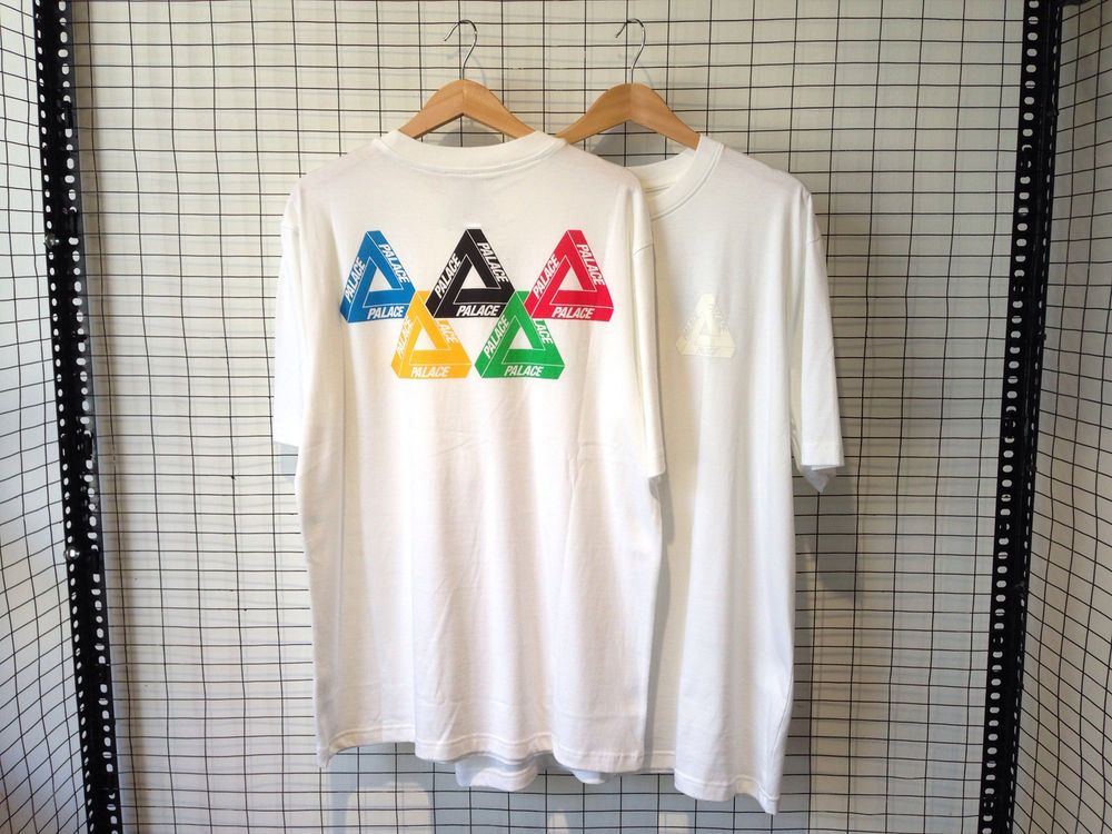 New Palace Skateboards Olympic Tee White Mens T Shirt Size