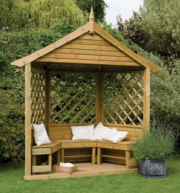 50 gartenlauben aus holz garten garten pavillon. Black Bedroom Furniture Sets. Home Design Ideas