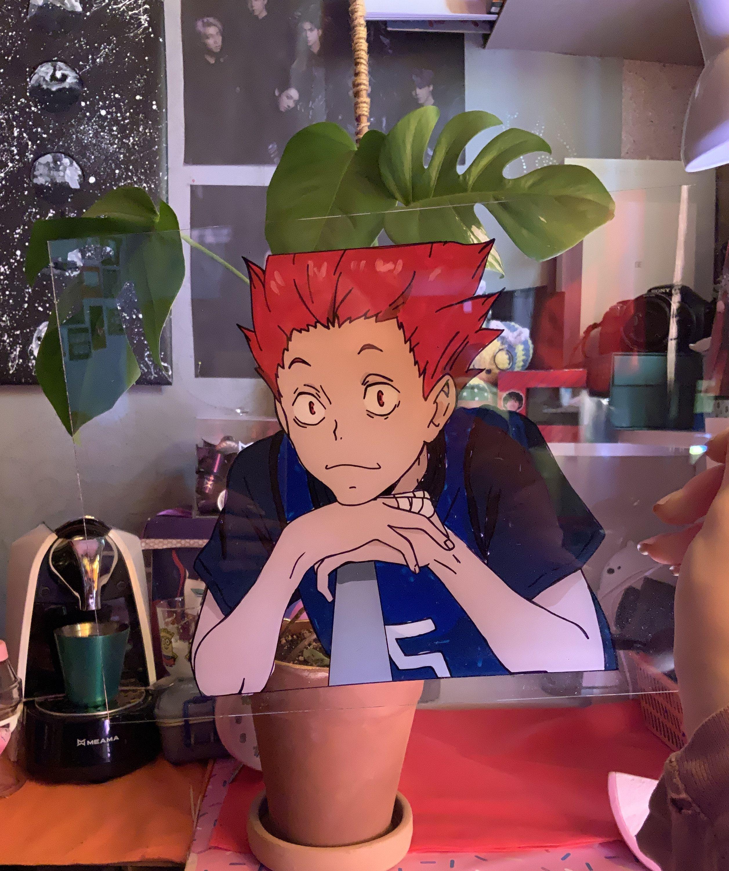 Haikyuu Tiktok Anime Glass Painting Satoru Tendo Free Shipping Weeb Volleyball In 2021 Glass Painting Painting Anime