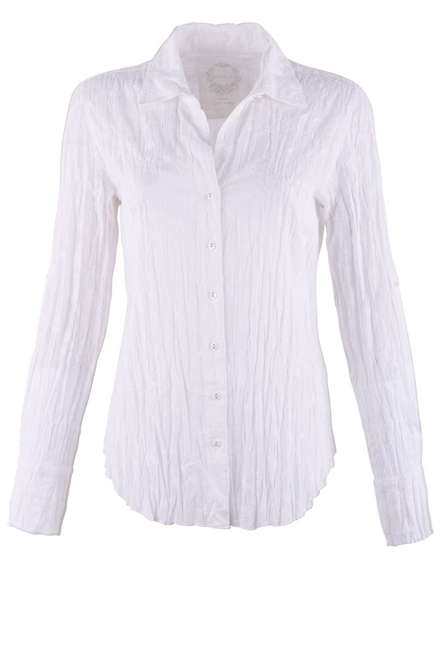 58d06ea4 CINO WHITE ON WHITE EMBROIDERED BLOUSE | Women's Western Shirts and ...