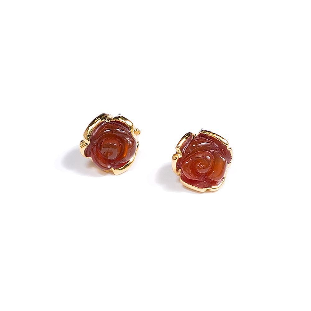 JANNA CONNER 6280E Carnelian Selda Rosette Earrings — #jannaconner
