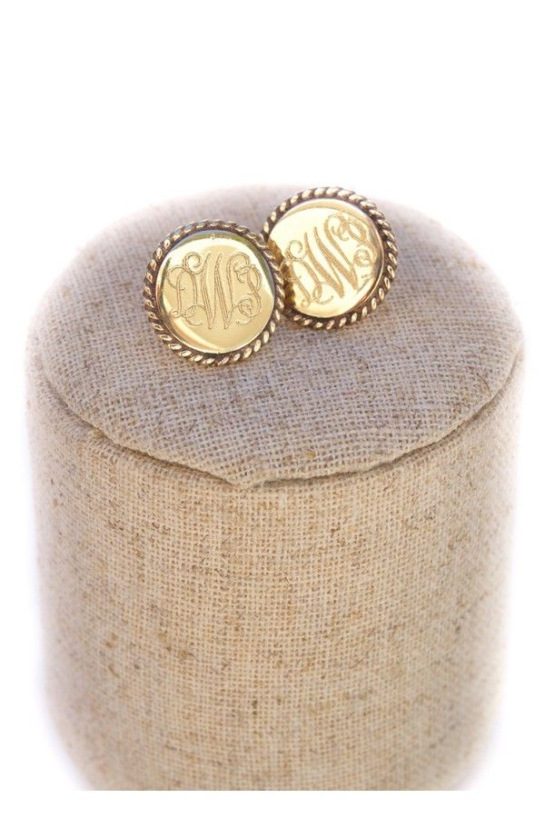 Engraved Rope Round Studs $29.95, including engraving