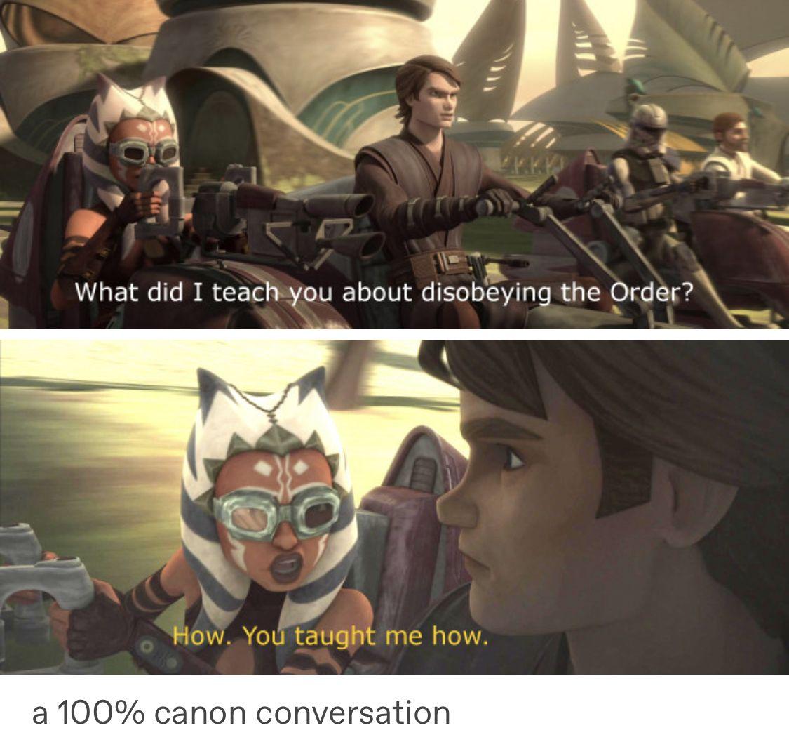Pin By Nicole Kloppenburg On Star Wars Star Wars Ahsoka Star Wars Memes Star Wars Humor