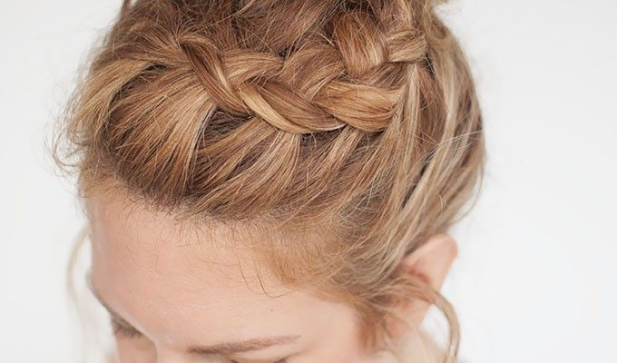 Www Hair Styles Everyday Curly Hairstyles  Curly Braided Top Knot Hairstyle