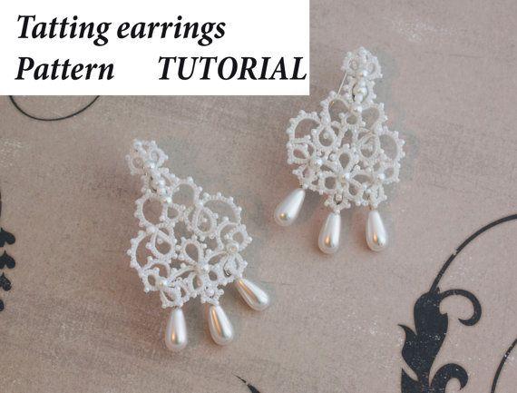 Tatting Pattern Lace Earrings Shuttle Photos Instructions Frivolite English Tutorial Gorgeous Pearl