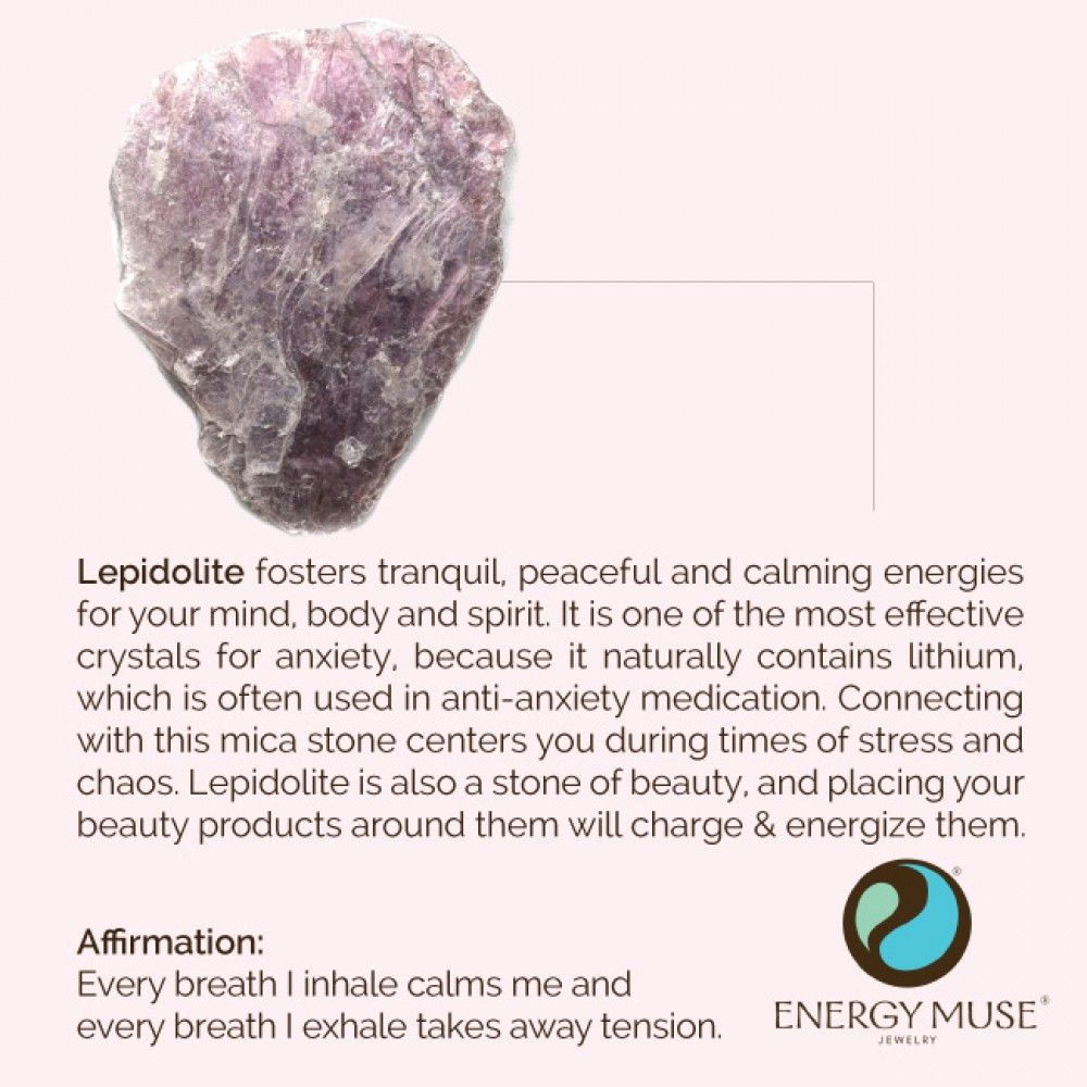 Lepidolite Stone Discover The Lepidolite Meaning Healing Properties From Energy Muse Lepidolite Crystals Crystal Healing Stones Crystals
