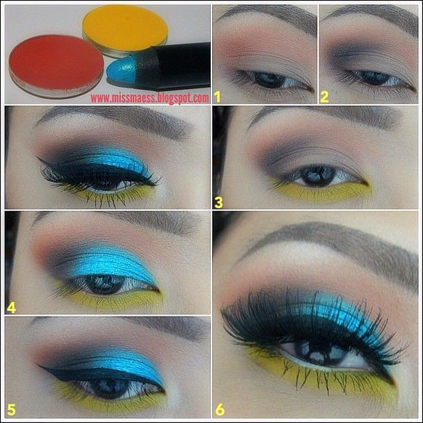 """Step 1: Prime the eye lid w/ Mac's Painterly Paint Pot. Then w/ a blending brush, (I used Makeup Addiction """"The Blender"""") apply Mac's """"Red Brick"""" on the crease.  Step 2: Define the outer corner by applying a dark brown e/s w/ a Mac 217 brush. I used the dark brown from Maybelline's """"Stylish Smokes"""" eye palette  Step 3: W/ a pencil brush, (Makeup Addiction """"The Detailer"""") line the lower lash line w/ Mac's """"Chrome Yellow."""""""