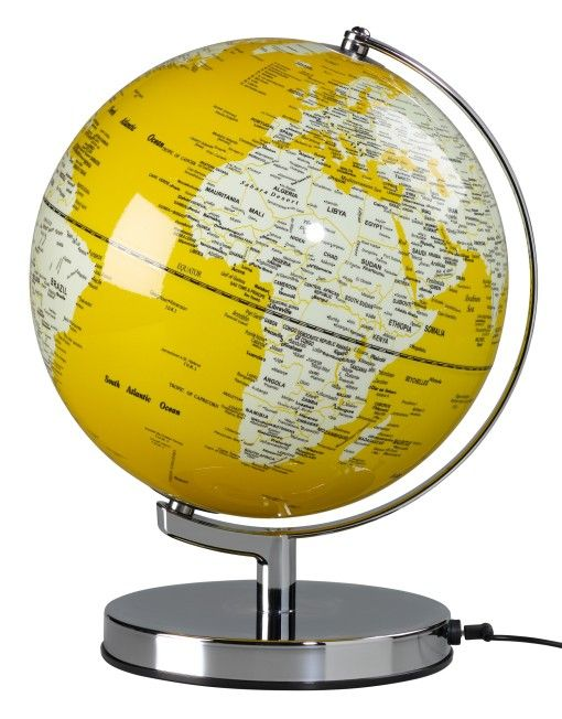 Illuminated Globe French Mustard Kids Globe Lights Globe
