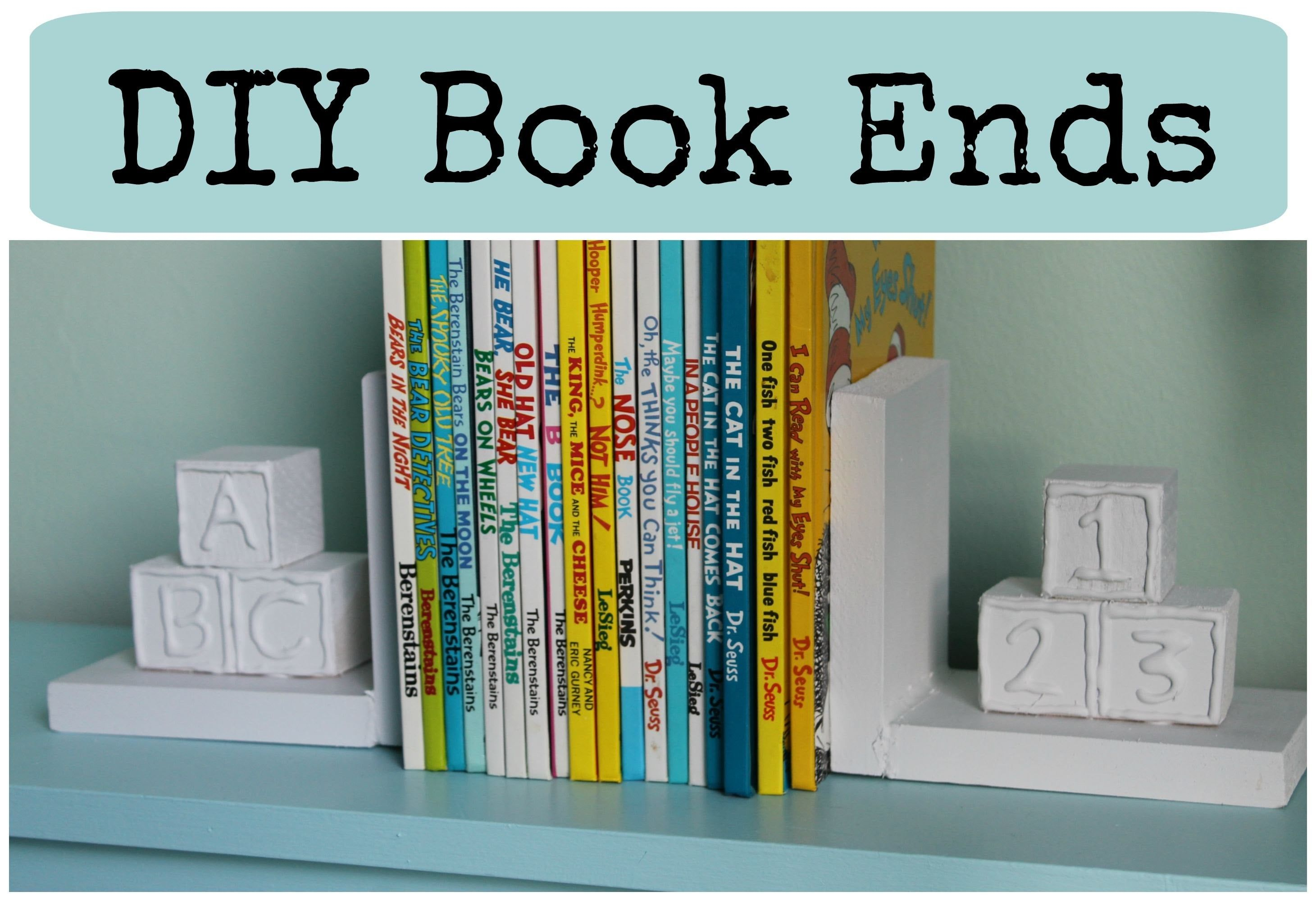 DIY: Book Ends ♡ {Nursery Decor} ♡ Jessica Joaquin