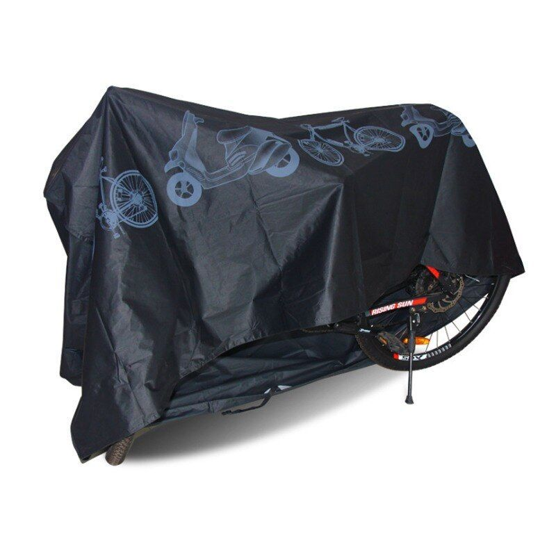 Waterproof Bicycle Rain Cover Bike Rear Bag Cover for Commuter Bags 1Pair