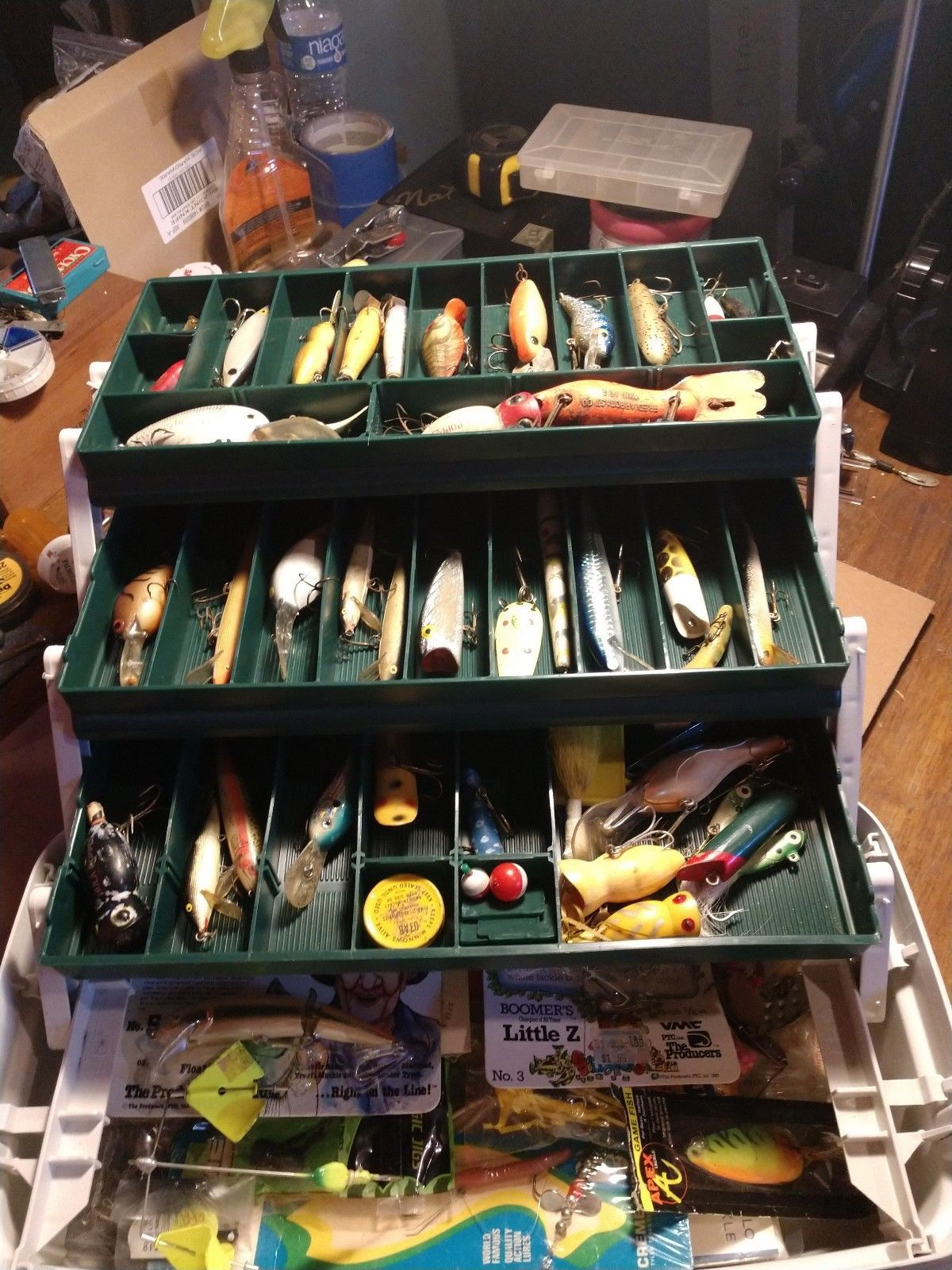 US 128pcs Fishing Lure Hooks Baits Angling Tackle Box Full Storage Case Tool Kit