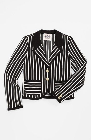 Juicy Couture 'Ottoman' Stripe Blazer (Toddler Girls, Little Girls & Big Girls) available at #Nordstrom