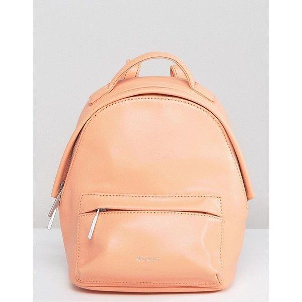 Matt & Nat Mini Munich Backpack (340 BRL) ❤ liked on Polyvore featuring bags, backpacks, orange, matt nat backpack, knapsack bag, day pack backpack, red mini bag and miniature backpack