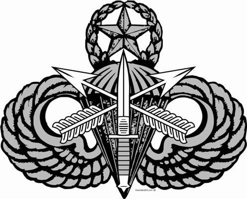 Special Forces Prototype Master Parachutist Badge Poster Author