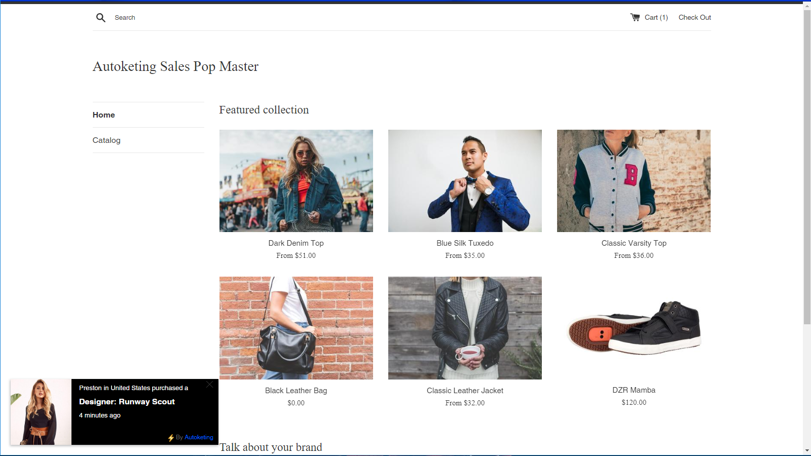 Create popups on your Shopify store. Show recent orders