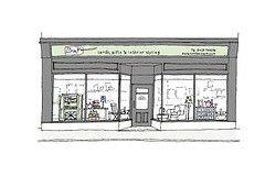 Bow Boutique Shop Sketch by Lucy Sheeran