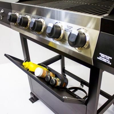 Brinkmann 5 Burner Propane Gas Grill With Side Burner 810 2512 S The Home Depot Gas Grill Propane Gas Grill Best Barbecue Grills