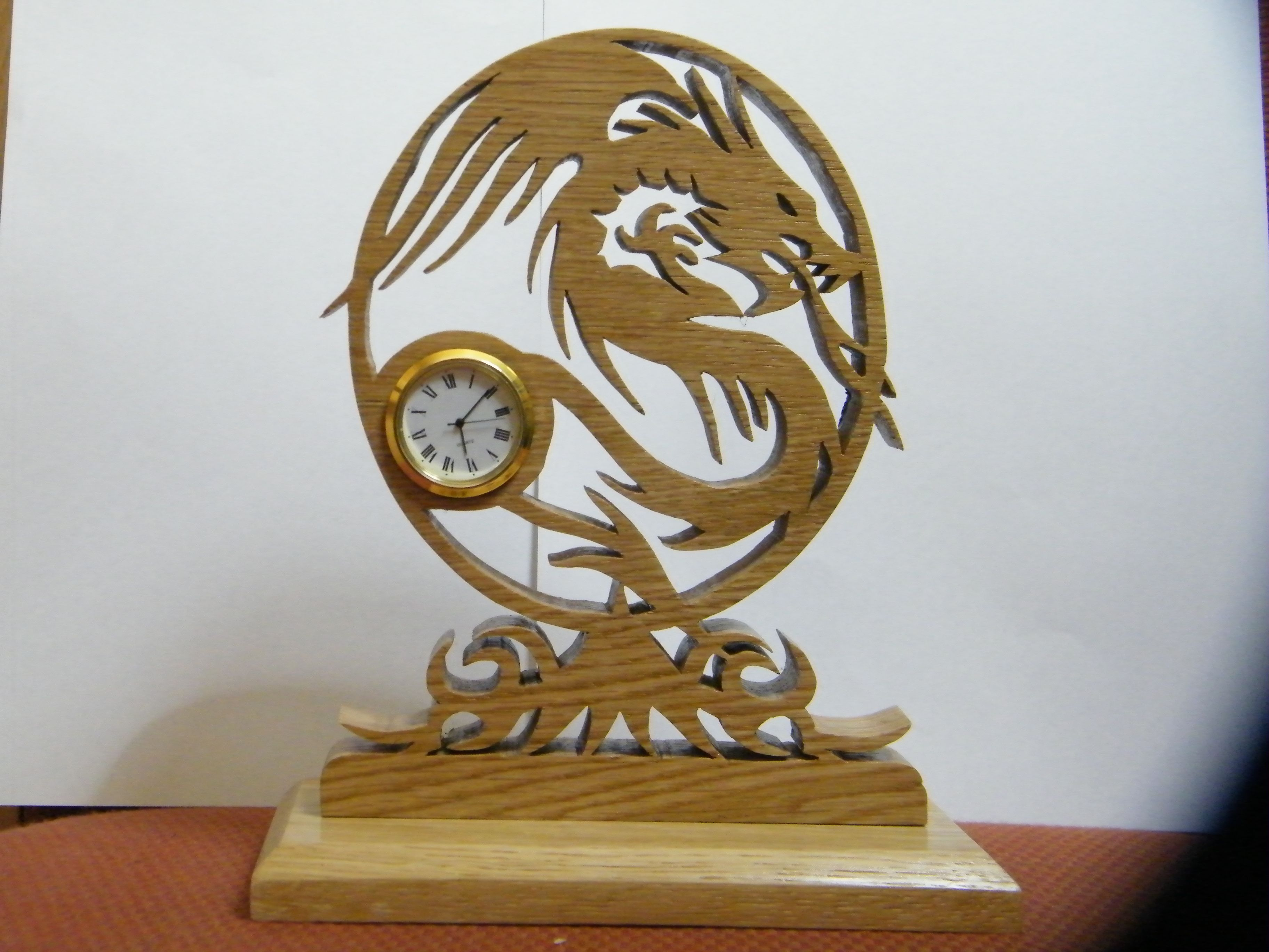 Dragon Clock That I Made From A Scrollsaw Workshop Design